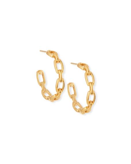 Carmine Small Link Hoop Earrings