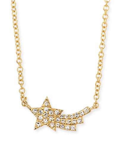 14k Diamond Shooting Star Necklace