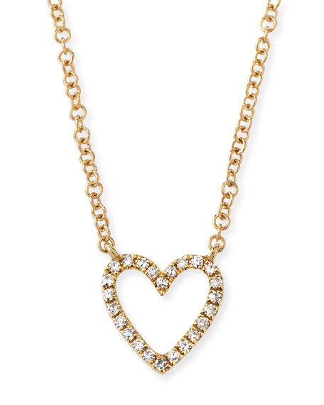 Ef Collection 14K DIAMOND OPEN HEART NECKLACE