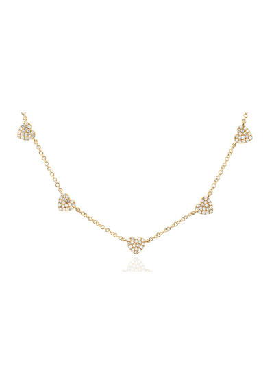 5 Mini Diamond Heart Necklace