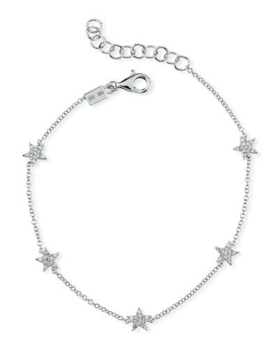 5 Mini Diamond Star Bracelet
