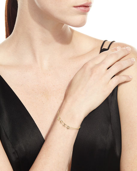 14k Gold Diamond XOXO Bracelet