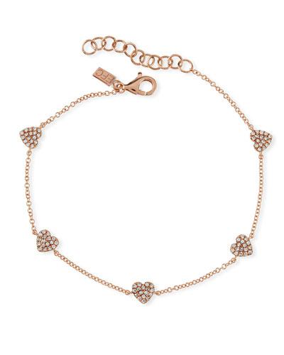 5 Mini Diamond Heart Bracelet
