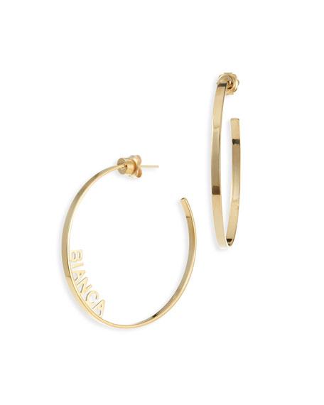Ciara Personalized Hoop Earrings