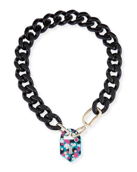Padlock Link Necklace