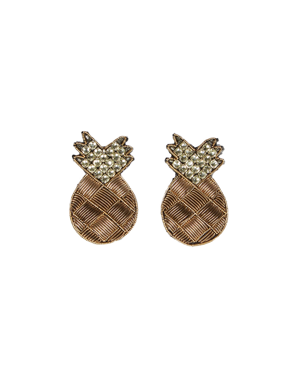 Mignonne Gavigan PINEAPPLE STUD EARRINGS