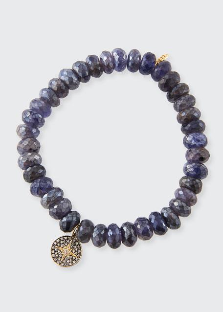 14k Small Starburst Diamond & Iolite Bracelet