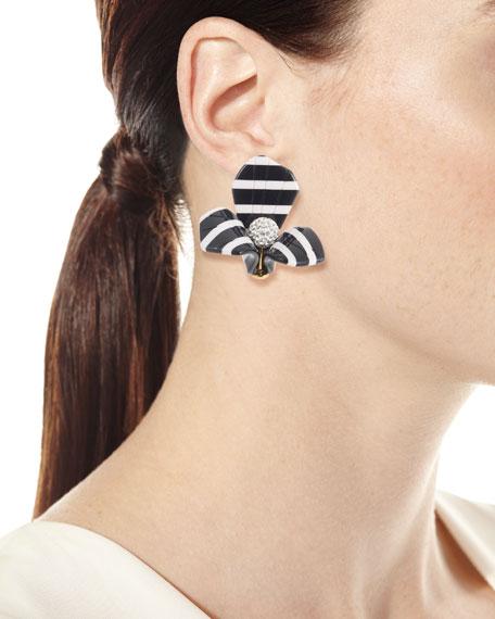 Striped Trillium Stud Earrings