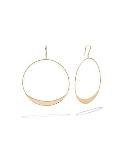 14k Eclipse Hoop Drop Earrings