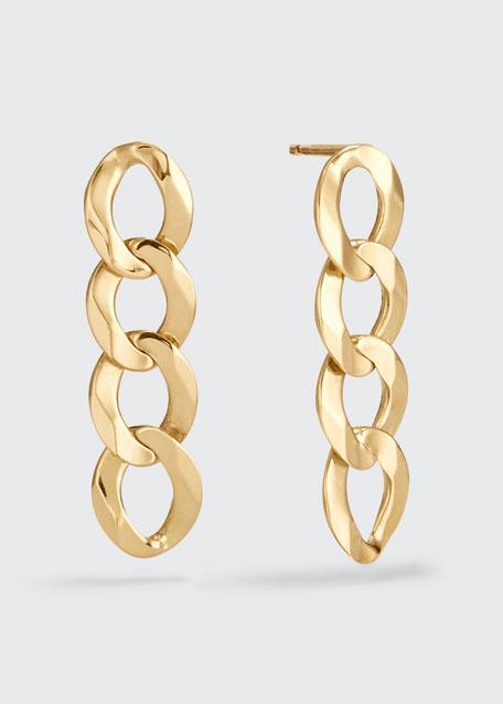 14k Curb-Chain Drop Earrings