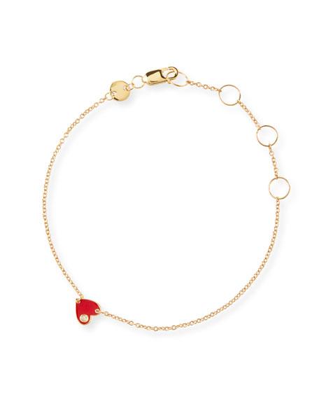 Mia Enamel Bracelet, Red