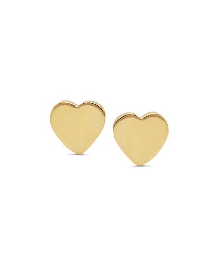 Established Jewelry 14k Gold Heart Stud Earrings