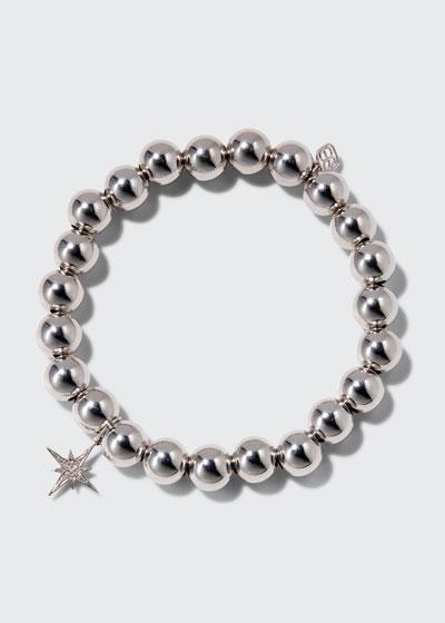 14k Diamond Starburst & Bead Bracelet