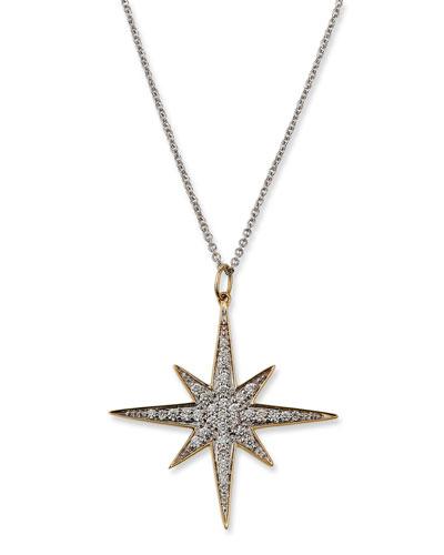 14k Diamond Starburst Pendant Necklace