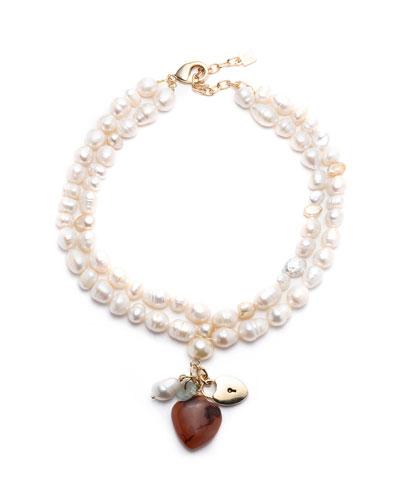 Seina Pearl 2-Strand Pendant Necklace