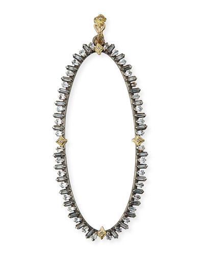 Old World Oval Sapphire Enhancer w/ Diamonds