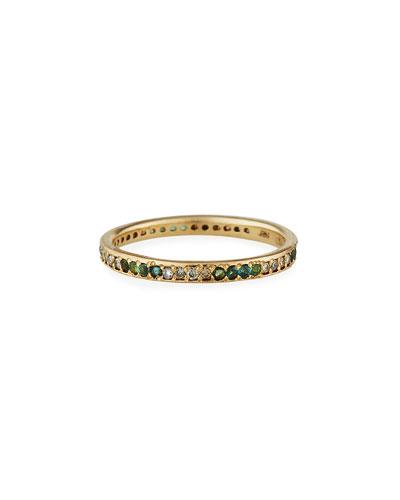 Old World 18k Tourmaline & Diamond Ring, Size 6.5