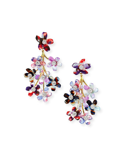 Garden Bouquet Chandelier Earrings