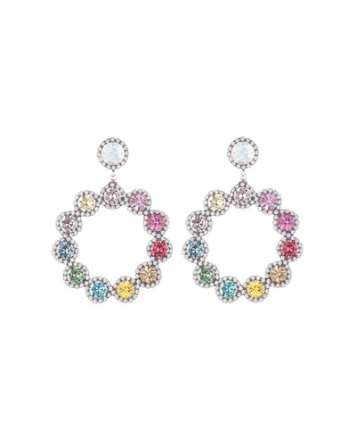 Bella Crystal Hoop-Drop Earrings