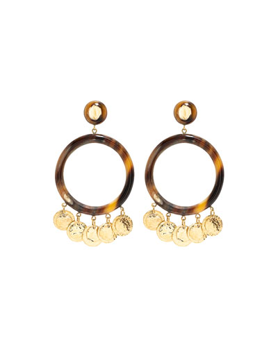 Azali Mixed-Horn Shaker Earrings