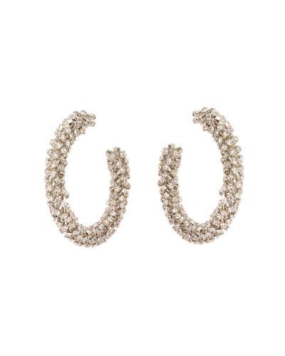 Small Bead Hoop Earrings