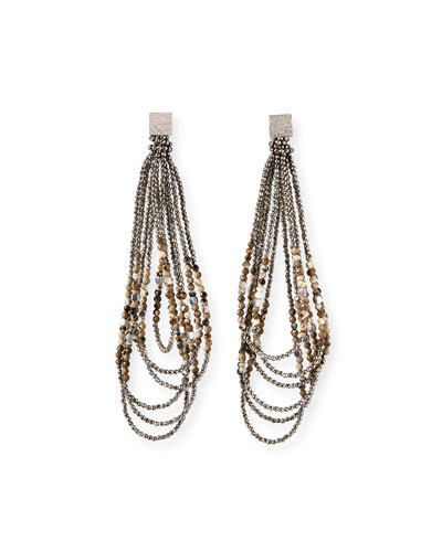 Monili-Beaded Looped Duster Earrings