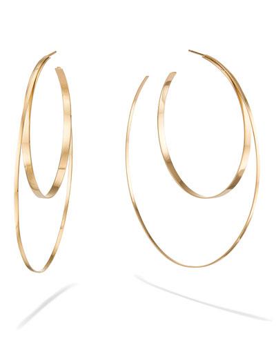 14k Large Double-Circle Hoop Earrings