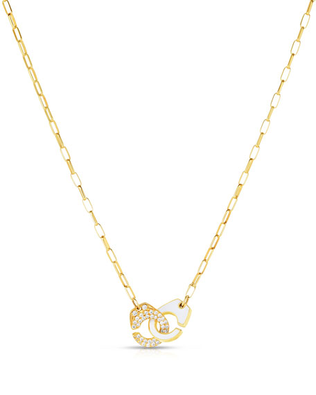 Partners in Crime Classic Pave Necklace, White