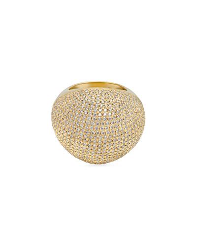 18k Diamond Pave Bauble Ring