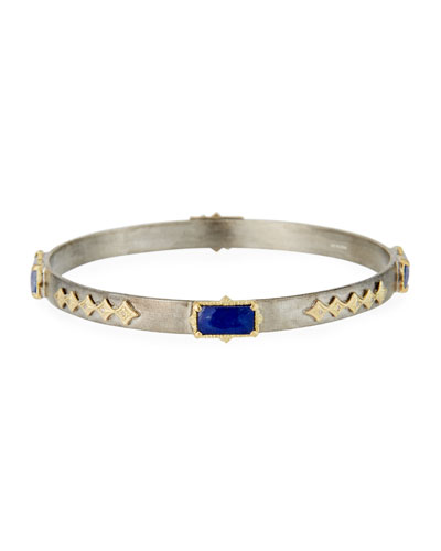 Old World Lapis/Blue Moonstone Crivelli Bangle