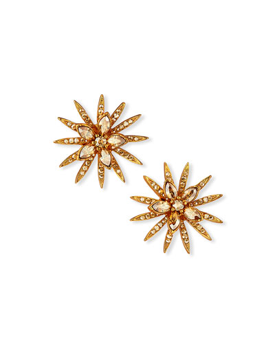 Pave Point Stud Earrings
