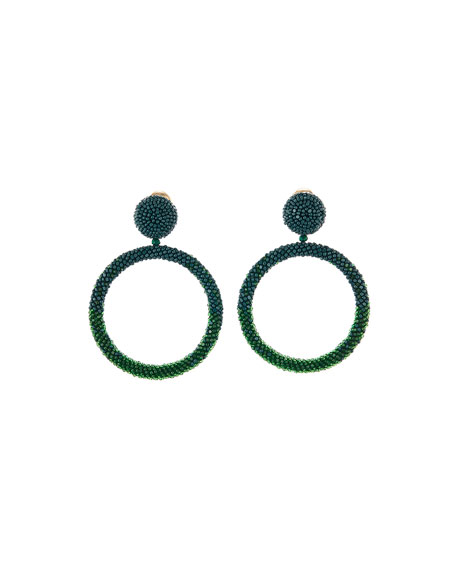 Beaded Hoop-Drop Earrings