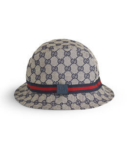 Children's GG Embossed Fedora