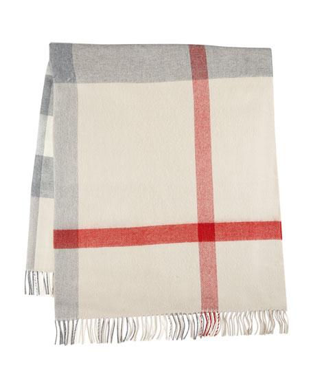 Lightweight Wool Check Blanket