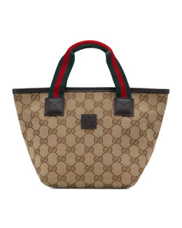 Gucci Girls GG Mini-Bag, Beige/Ebony