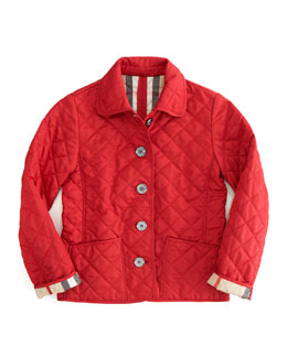 Military Red Quilted Jacket
