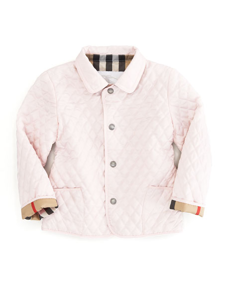 Ice Pink Quilted Mini Jacket, Sizes 12M-3Y