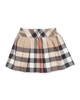 Side-Button Check Kilt, 12M-3Y