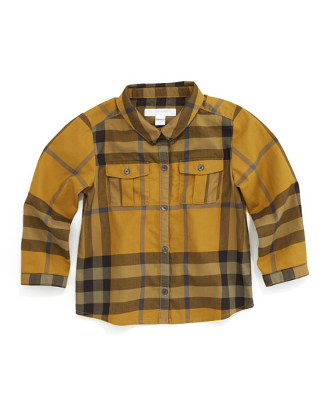 Long-Sleeve Check Shirt, Turmeric