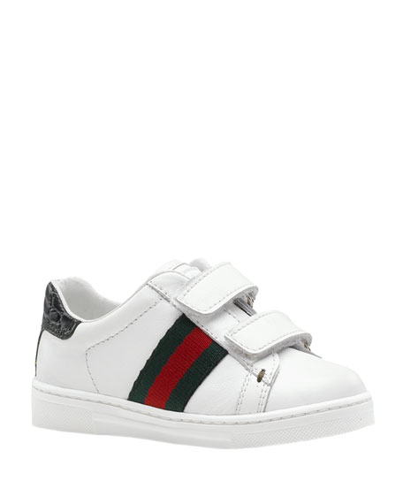 Ace Double-Strap Sneaker, White