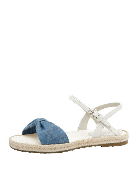 Girls' GG Denim Espadrille Sandal