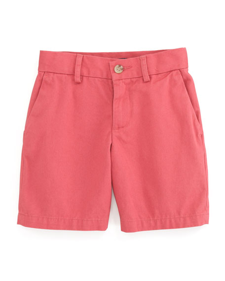 Preppy Saltwater Washed Shorts, Brick Red