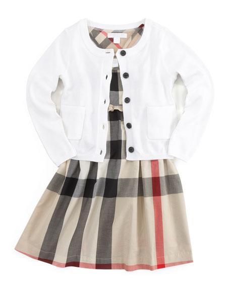Cotton Knit Cardigan, White