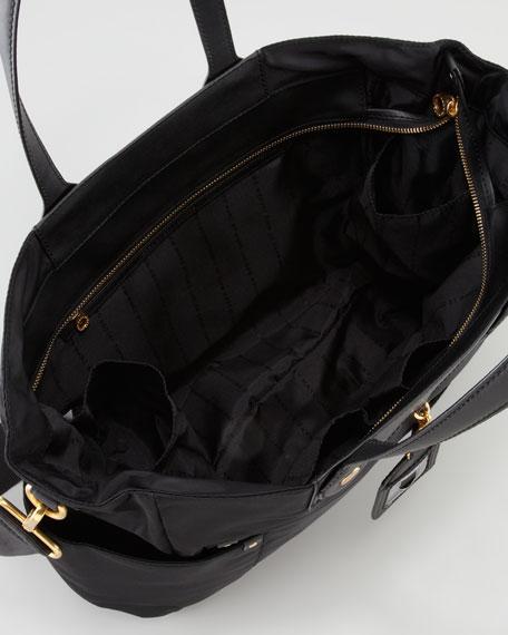 Eliz-A-Baby Preppy Nylon Diaper Bag, Black