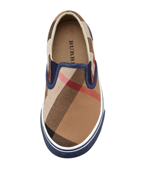 Navy Check Slip-On Sneaker, Kids' Sizes