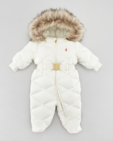 970776852 Ralph Lauren Childrenswear Footed Down Snowsuit
