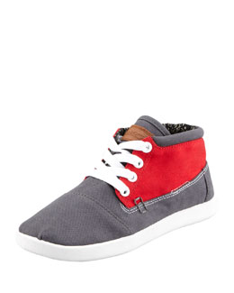 TOMS Colorblock Botas Shoe, Red/Gray, Youth