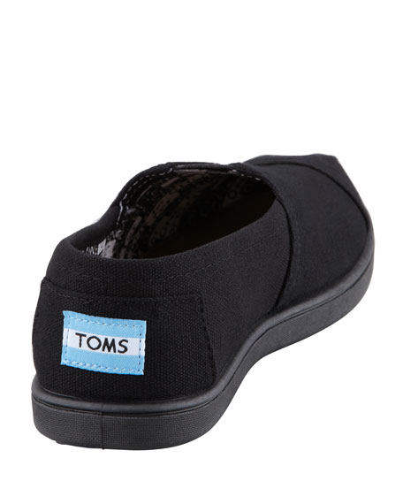 Classic Canvas Slip-On, Black, Youth