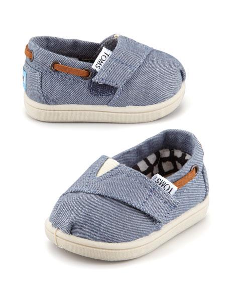 Tiny Chambray Bimini Shoe, Blue