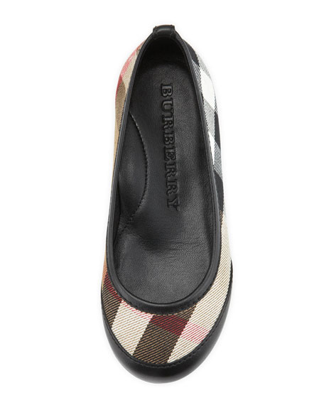 Kid Parade Ballerina Flat, Black, EU Sizes 27-34